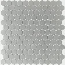 lyric unglazed porcelain hexagon mosaic tile in gray