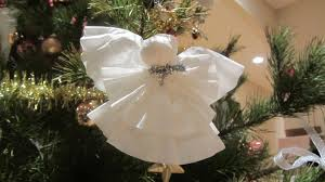 Coffee Filter Christmas Angel Ornament Or Topper For Tree