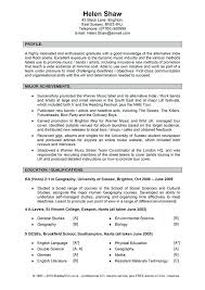 Personal Profile Resume Examples Example Template
