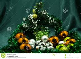 Download Small Led Christmas Tree With Ornament Stock Image