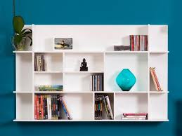 White Wall Shelving Units Large Square Background Long Stayed Drawer Modern Design Thin Strong Wooden