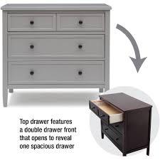 Davinci Kalani Combo Dresser Ebony by 3 Drawer Dresser With Hutch Chest Of Drawers