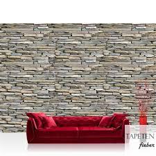 vlies fototapete no 1057 steinwand tapete steinmauer steinoptik steine stein steintapete wandverblender grau