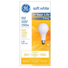shop ge 150 watt for indoor or enclosed outdoor soft white 3 way
