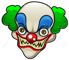 Creepy Clown Pumpkin Stencils by Spooky Clipart Halloween Mask Pencil And In Color Spooky Clipart