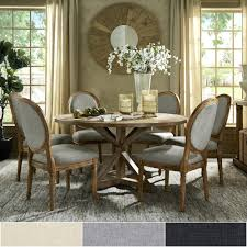 French Dining Room Furniture Round Set With Back Chairs By Inspire Q Artisan