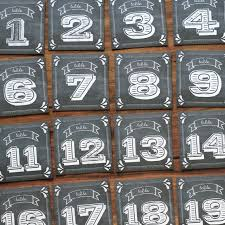 Rustic Chalkboard Table Numbers PDF