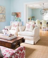 Ideas Blue Living Room The Sky Walls Bring A Warm Sunny Day Into This