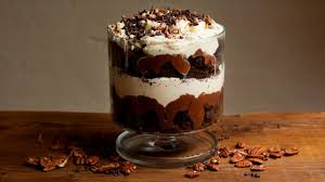 Pumpkin Mousse Brownie Trifle by Chocolate Pecan Brownie Trifle With Orange Blossom Cream