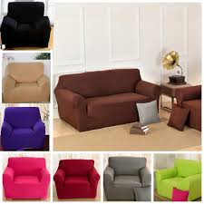 Best Fabric For Sofa by Solid Pure Colour Lounge Universal Fabric Couch Cover Sofa Stretch