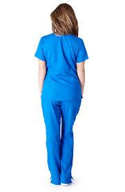 Ceil Blue Scrub Sets by Ultra Soft Scrubs Premium Womens Junior Fit Three Pocket Top And