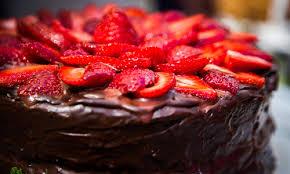home family glamp in desserts tamara bergs chocolate cake with ganache and fresh strawberries