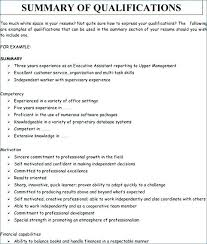 Resume Summary Examples For Students Sample Of A With Qualifications