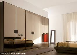 stylish brown glass wardrobe design Wardrobe Design