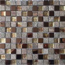 stone and glass mosaic sheets stainless steel backsplash square