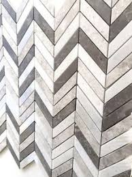 carrara gray mix chevron marble mix mosaic wall and floor tile