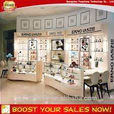 Fashion Retail Store MDF Wooden Cosmetic Display Shelf For Furniture