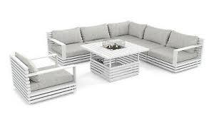outdoor lounge set gartenmöbel terrasse design rina weiss