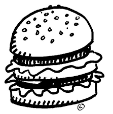 Cheeseburger clipart black and white ClipartFest Cheeseburger Nathan