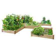 Decorative Garden Fence Home Depot by Greenes Fence 80 Sq Ft Dovetail Raised Bed Garden Kit Rc12t8s64b