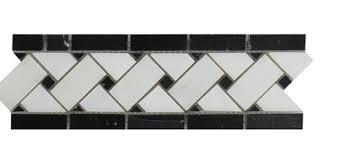 seven seas bianco carrara 4 x 12 marble listello border tile