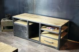 bureau industriel metal bois meuble bois metal industriel bureau style industriel mactal bois