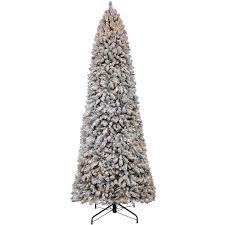 C36 12ft Pre Lit Keyser Flocked Pine Christmas Tree