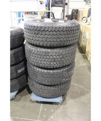 SET OF 4 GOODYEAR WRANGLER TRUCK TIRES COMPLETE WITH ALLOY RIMS MUD ...