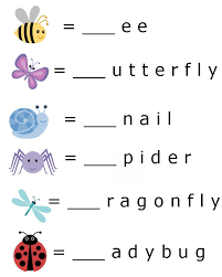 Bug And Insect Themed Printable Worksheet For Kids Beginning Letter Sounds