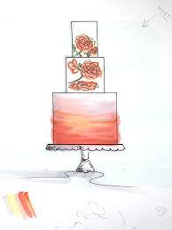 wedding cake sketch The Garter Girl