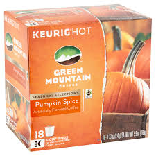 Keurig Pumpkin Spice Coffee Nutrition by Green Mountain Coffee Pumpkin Spice Keurig Single Serve K Cup Pods