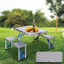 Walmart Outdoor Folding Table And Chairs by Ancheer Outdoor Folding Table Portable Plastic Indoor Picnic Party