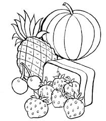 Heart Healthy Foods Coloring Pages Food For Preschool Eating Habits