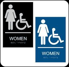 Ada Restroom Sign Mounting Height by Best 25 Ada Restroom Ideas On Pinterest Commercial Bathroom
