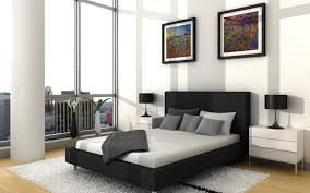 Black And White Bed Frame Attractive Tree Wallpaper Design Combined Flower Wall Paper