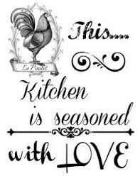 This Kitchen Is Seasoned With LOVE French KitchensFree Printables