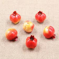 20PCS Artificial Fruit Vegetables Pomegranate Kindergarten Garden Family Kitchen DIY Handwork Decoration FruitChina