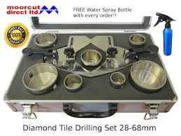 Tile Hole Saw Set by Moorcut Direct Diamond Hole Saw Set Tile Drilling 28 68mm For