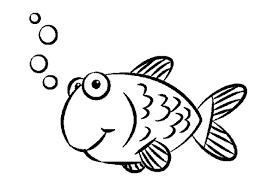 Simple Kid Preschool Coloring Pages Fish