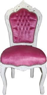casa padrino barock esszimmer stuhl rosa weiß möbel