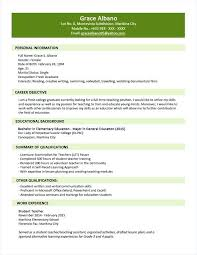 Example Resume Other Interests And Sample Format For Fresh Graduates Two Page Frame