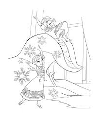 Elsa And Anna Kids Frozen Kristoff Smile Coloring Page