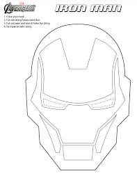 Intended For Artists Of All Ages Coloring Iron Man Helmet Printables Is Like Clipart