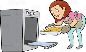 Cake In Oven Clipart · Baking oven clipart