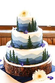18 Must See Rustic Woodland Themed Wedding Cakes