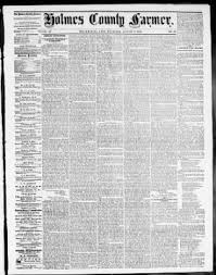 Holmes County Farmer From Millersburg Ohio On August 17 1865 Page 1