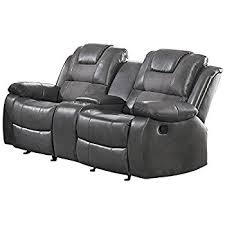 amazon com homelegance marille reclining loveseat w center