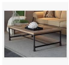 American Law Rustic Furniture Vintage Industrial Style Coffee Table Wrought Iron Rectangular