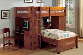 Over Twin Loft Bunk Bed Set Lars Oak