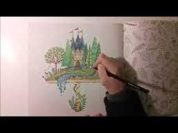 Pastel Pencils Colored Filmer Johanna Basford Secret Garden Coloring Tutorial Pencil Techniques Adult Books Video
